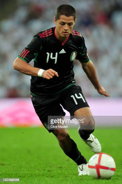 Javier Hernandez of Mexico in action during the International Friendly match between England and Mexico at Wembley Stadium on May 24 2010 in London...