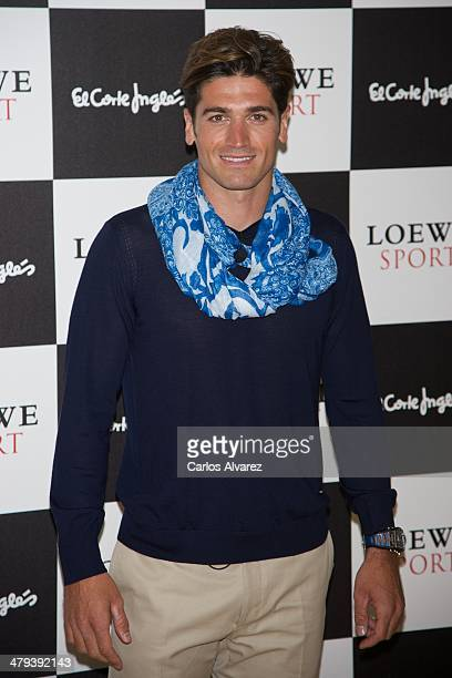 Javier Hernanz presents the new Loewe 'Sport' fragance at the Corte Ingles Castellana store on March 18 2014 in Madrid Spain