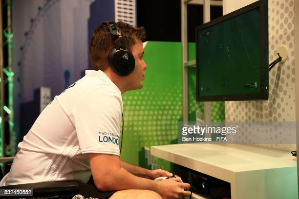 Javier 'Janoz' Munoz of Columbia in action during day one of the FIFA Interactive World Cup 2017 on August 16 2017 in London England