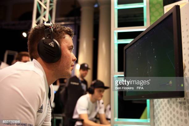 Javier 'Janoz' Munoz of Columbia in action in his game against Florian 'Codyderfinisher' Mller of Germany during day one of the FIFA Interactive...