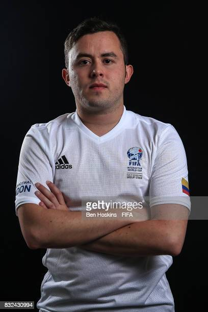 Javier 'Janoz' Munoz of Columbia poses for a portrait ahead of the FIFA Interactive World Cup 2017 on August 15 2017 in London England