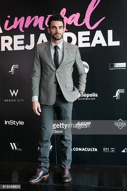 Javier Jattin poses during the presentation of the movie 'La Vida Inmoral de la Pareja Ideal' on October 17 Mexico City Mexico