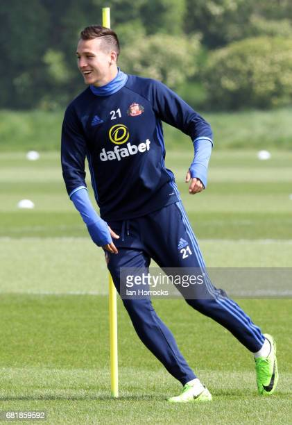 Javier Manquillo during a SAFC training session at The Academy of Light on May 11 2017 in Sunderland England