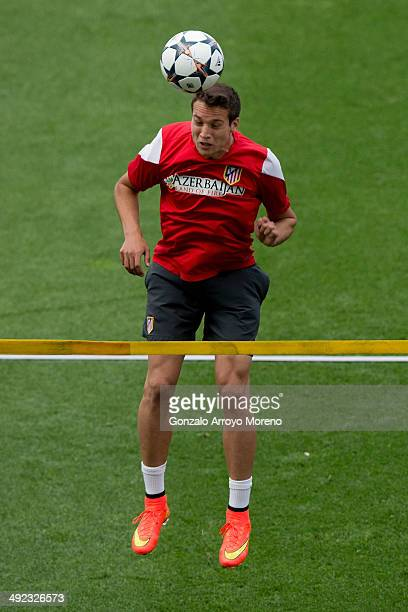 Javier Manquillo of Atletico de Madrid during the training session held on the Media Day prior to UEFA Champions League Final between Club Atletico...