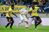 Javier Manquillo of Marseille during the semifinal French Cup between Sochaux and Olympique de Marseille at Stade Auguste Bonal on April 20 2016 in...