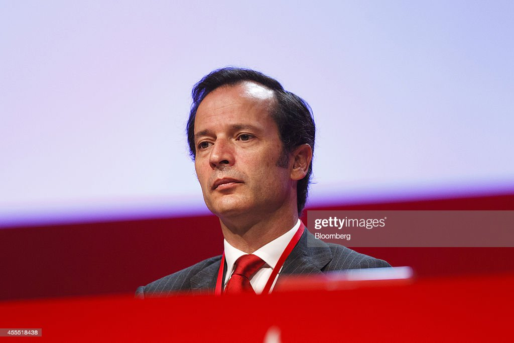 Javier Marin, chief executive officer of Banco Santander SA, looks on during an annual general meeting (AGM) in Santander, Spain, on Monday, Sept. 15, 2014. Ana Patricia Botin, 53, made her debut appearance after being named chairman on Sept. 10 following the death of her father Emilio the night before at the age of 79. Photographer: Angel Navarrete/Bloomberg via Getty Images
