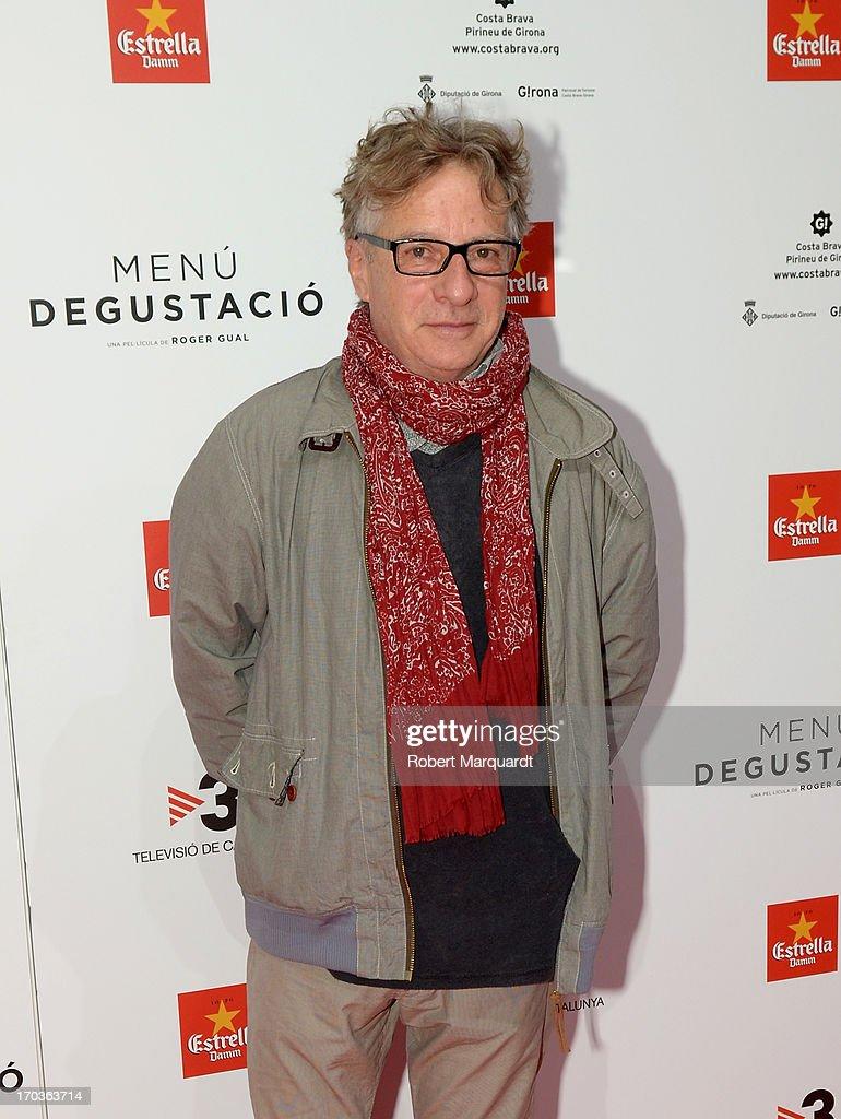 Javier Mariscal attends the premiere of 'Menu Degustacion' at Comedia Cinema on June 10, 2013 in Barcelona, Spain.