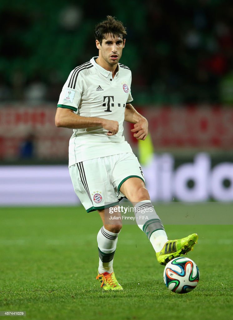Javier Martinez of Bayern Muenchen in action during the FIFA Club World Cup Semi Final match between Guangzhou Evergrande FC and Bayern Muenchen at the Agadir Stadium on December 17, 2013 in Agadir, Morocco.