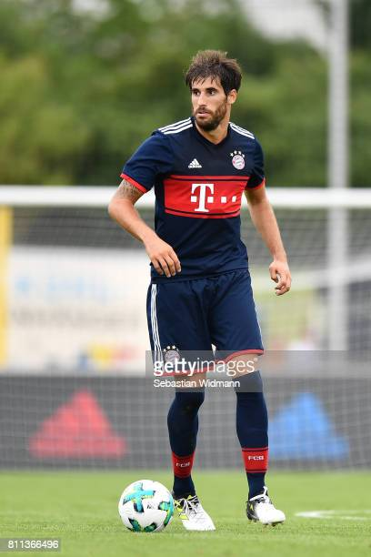 Javier Martinez of FC Bayern Muenchen plays the ball during the preseason friendly match between FSV ErlangenBruck and Bayern Muenchen at Adi Dassler...