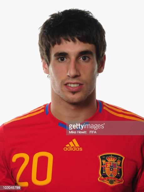 Javier Martinez of Spain poses during the official Fifa World Cup 2010 portrait session on June 13 2010 in Potchefstroom South Africa