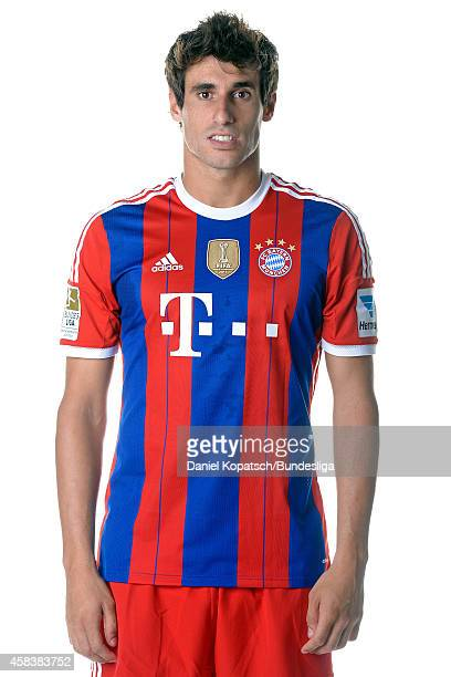 Javier Martinez poses during the FC Bayern Muenchen Team Presentation for DFL on August 9 2014 in Munich Germany