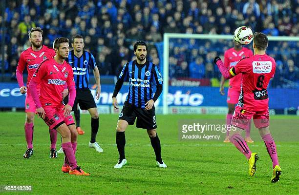 Javier Martos of Charleroi in action during Jupiler Pro League Club Brugge and Charleroi match in Brussels Belgium on March 7 2015