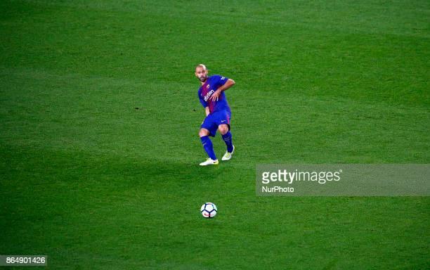 Javier Mascherano during La Liga match between FC Barcelona v Malaga CF in Barcelona on October 21 2017