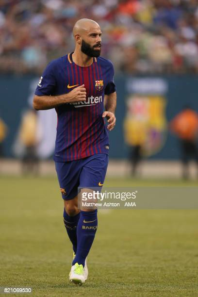 Javier Mascherano of FC Barcelona during the International Champions Cup 2017 match between Juventus and FC Barcelona at MetLife Stadium on July 22...