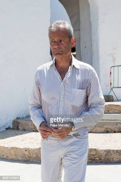 Javier Merino attends the Mass Funeral for Angel Nieto at Parroquia de Santa Eularia on August 5 2017 in Ibiza Spain