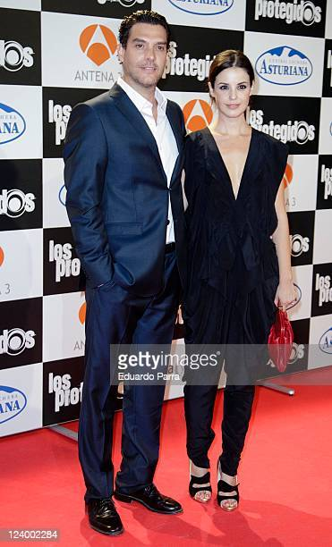 Javier Mora and Marta Torne attend Los protegidos premiere at Capitol Cinema on September 7 2011 in Madrid Spain