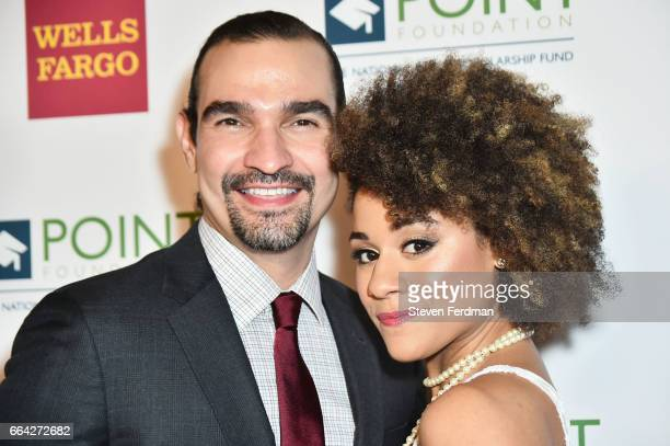 Javier Munoz and Ariana DeBose attend Point Honors Gala at The Plaza Hotel on April 3 2017 in New York City