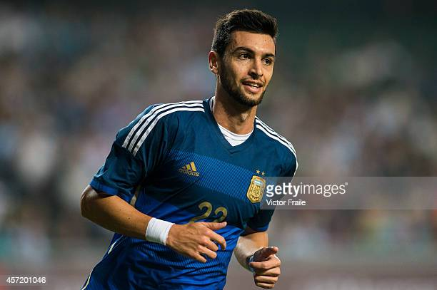 Javier Pastore of Argentina during the International Friendly Match between Hong Kong and Argentina at the Hong Kong Stadium on October 14 2014 in...