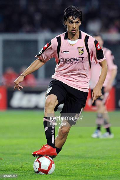 Javier Pastore of Palermo in action during the Serie A match between US Citta di Palermo and AC Milan at Stadio Renzo Barbera on April 24 2010 in...