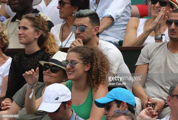 Javier Pastore of PSG attends the men's final on day 15 of the 2017 French Open second Grand Slam of the season at Roland Garros stadium on June 11...
