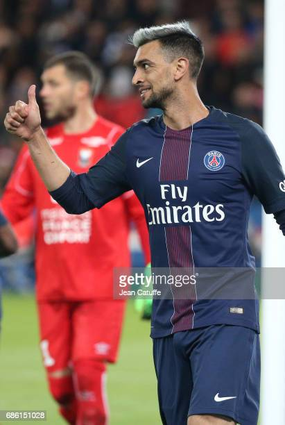 Javier Pastore of PSG during the French League 1 match between Paris SaintGermain and Stade Malherbe de Caen at Parc des Princes stadium on May 20...