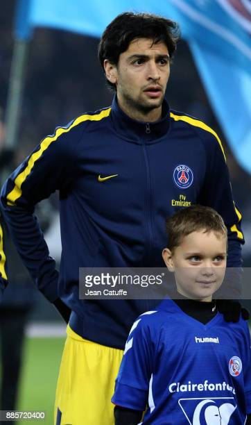Javier Pastore of PSG during the French Ligue 1 match between RC Strasbourg Alsace and Paris Saint Germain at Stade de la Meinau on December 2 2017...