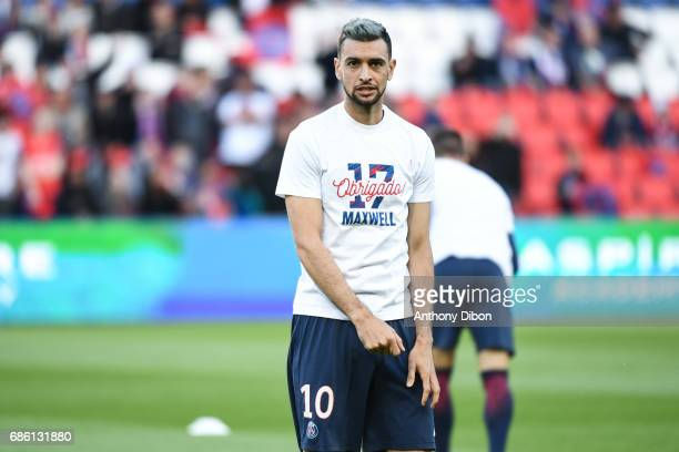 Javier Pastore of PSG during the Ligue 1 match between Paris SaintGermain and SM Caen at Parc des Princes on May 20 2017 in Paris France