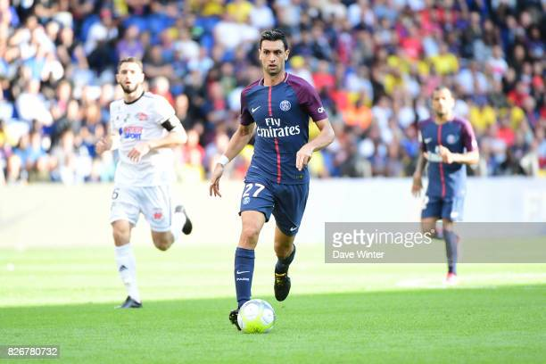Javier Pastore of PSG during the Ligue 1 match between Paris Saint Germain and Amiens SC at Parc des Princes on August 5 2017 in Paris France