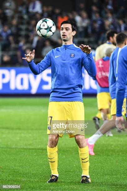Javier Pastore of PSG during the UEFA Champions League match between RSC Anderlecht and Paris SaintGermain at Constant Vanden Stock Stadium on...