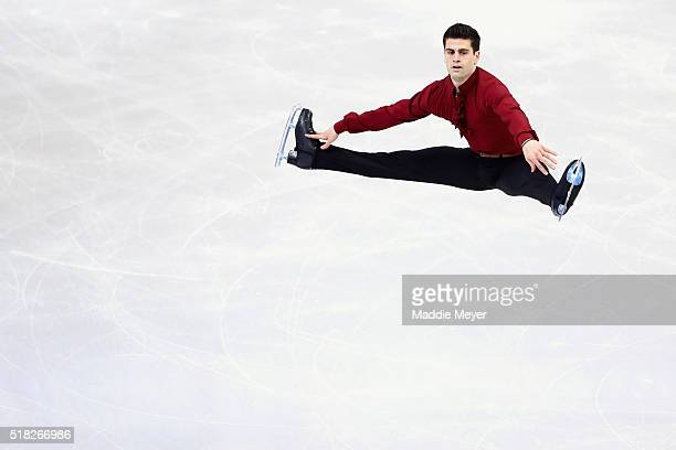 Javier Raya of Spain skates in the Men's Short program during day 3 of the ISU World Figure Skating Championships 2016 at TD Garden on March 30 2016...