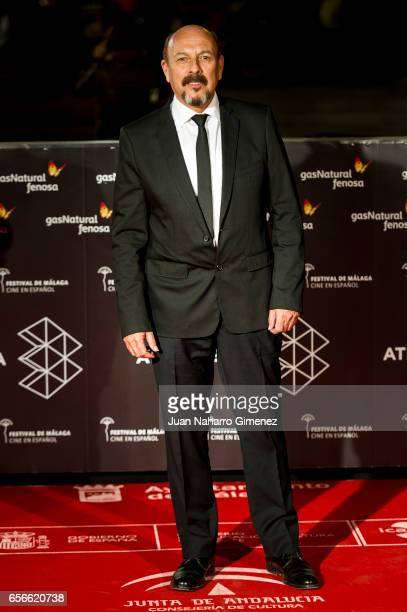 Javier Ruibal attends the 'Verano 1993' premiere at the Cervantes Teather on day 6 of the 20th Malaga Film Festival on March 22 2017 in Malaga Spain