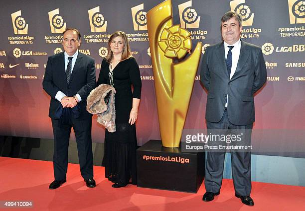 Javier Tebas and attend the LFP Awards Gala 2015 on November 30 2015 in Barcelona Spain
