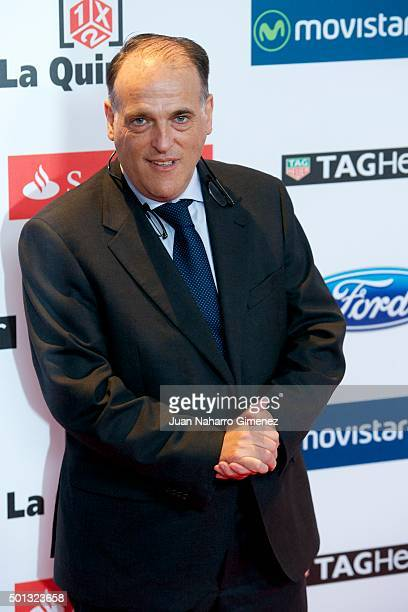 Javier Tebas attends 'As Del Deporte' awards 2015 photocall at Palace Hotel on December 14 2015 in Madrid Spain