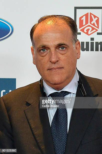 Javier Tebas attends the 2015 'AS Del Deporte' Awards at The Westin Palace Hotel on December 14 2015 in Madrid Spain