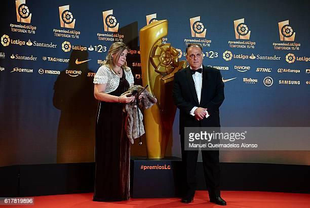 Javier Tebas attends the LFP Soccer Awards Gala 2016 at Palacio de Congresos on October 24 2016 in Valencia Spain