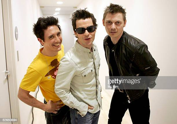 R Javier Weyler Kelly Jones and Richard Jones of Welsh rock trio Stereophonics pose at their intimate gig launching a series of events due to take...