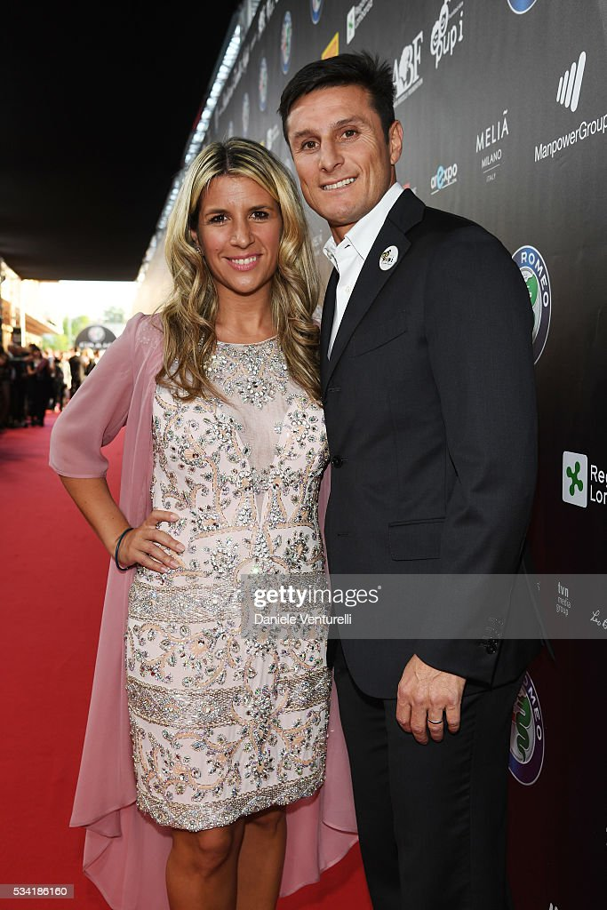 <a gi-track='captionPersonalityLinkClicked' href=/galleries/search?phrase=Javier+Zanetti&family=editorial&specificpeople=206966 ng-click='$event.stopPropagation()'>Javier Zanetti</a> and Paula Zanetti walk the red carpet of Bocelli and Zanetti Night on May 25, 2016 in Rho, Italy.