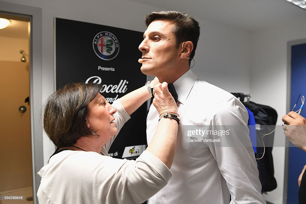 <a gi-track='captionPersonalityLinkClicked' href=/galleries/search?phrase=Javier+Zanetti&family=editorial&specificpeople=206966 ng-click='$event.stopPropagation()'>Javier Zanetti</a> is seen backstage ahead of Bocelli and Zanetti Night on May 25, 2016 in Rho, Italy.