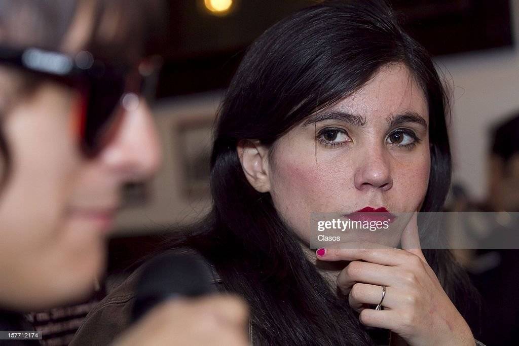Javiera Mena looks on during a press conference to announce their performance at the Lunario on December 4, 2012 in Mexico City, Mexico.