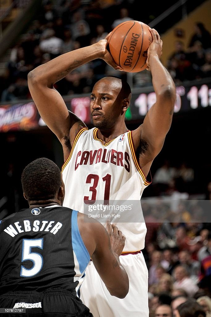<a gi-track='captionPersonalityLinkClicked' href=/galleries/search?phrase=Jawad+Williams&family=editorial&specificpeople=200696 ng-click='$event.stopPropagation()'>Jawad Williams</a> #31 of the Cleveland Cavaliers looks to pass the ball against the Minnesota Timberwolves at The Quicken Loans Arena on December 26, 2010 in Cleveland, Ohio.