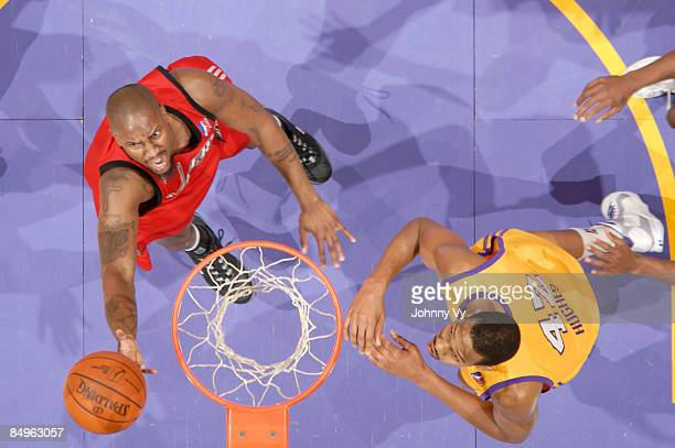 Jawad Williams of the Rio Grande Valley Vipers puts up a shot against Gabriel Hughes of the Los Angeles DFenders at Staples Center on February 20...