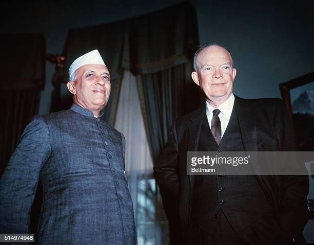 Jawaharlal Nehru with President Eisenhower