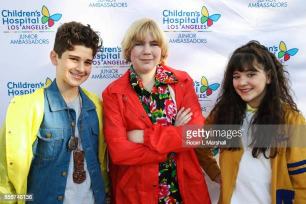 Jax Malcolm Connor Dean and Chloe Noelle attend the 2nd Annual #ActionJax Halloween Movie Morning Fundraiser at the Vista Theatre on October 7 2017...