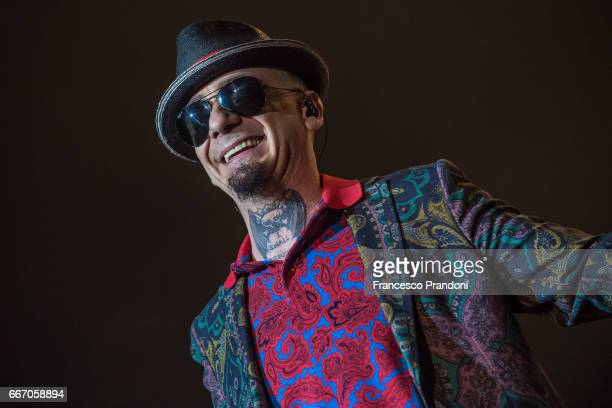 Ax of JAx and Fedez performs at Mediolanum Forum on April 10 2017 in Milan Italy