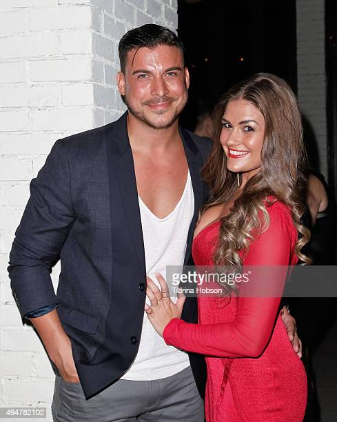 Jax Taylor and Brittany Cartwright attend the 'Vanderpump Rules' premiere party at The Church Key on October 28 2015 in West Hollywood California