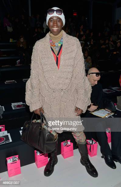 Jay Alexander attends the Betsey Johnson Show during MercedesBenz Fashion Week Fall 2014 at The Salon at Lincoln Center on February 12 2014 in New...