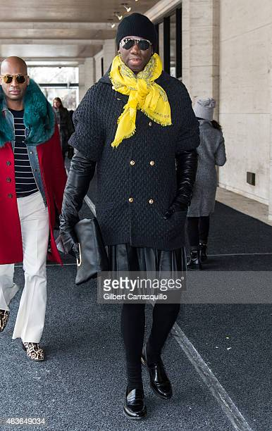 Jay Alexander is seen around MercedesBenz Fashion Week Fall 2015 at Lincoln Center on February 16 2015 in New York City