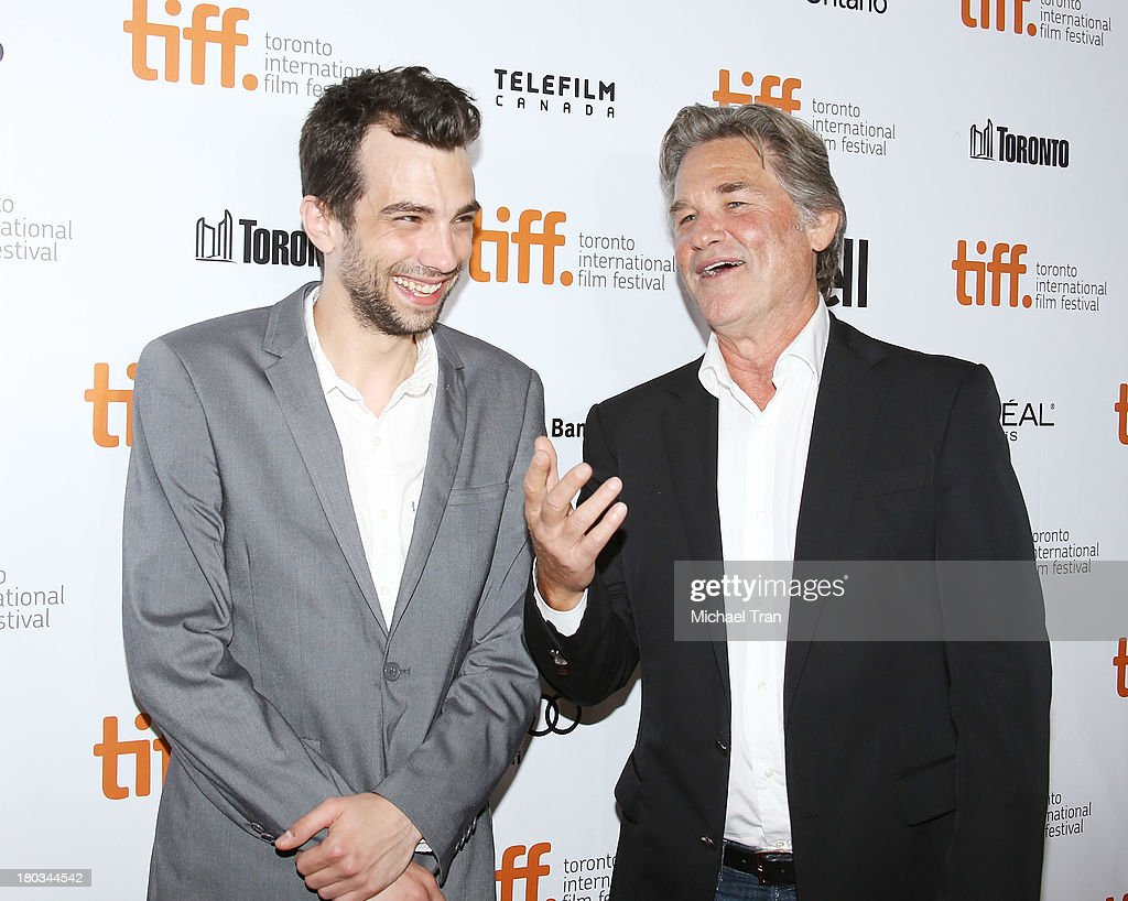 Jay Baruchel and Kurt Russell arrive at 'The Art Of The Steal' premiere during the 2013 Toronto International Film Festival held at Roy Thomson Hall...