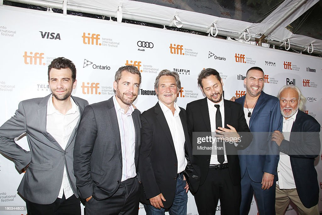 Jay Baruchel Jason Jones Kurt Russell Jonathan Sobol Dax Ravina and Kenneth Welsh arrive at 'The Art Of The Steal' premiere during the 2013 Toronto...