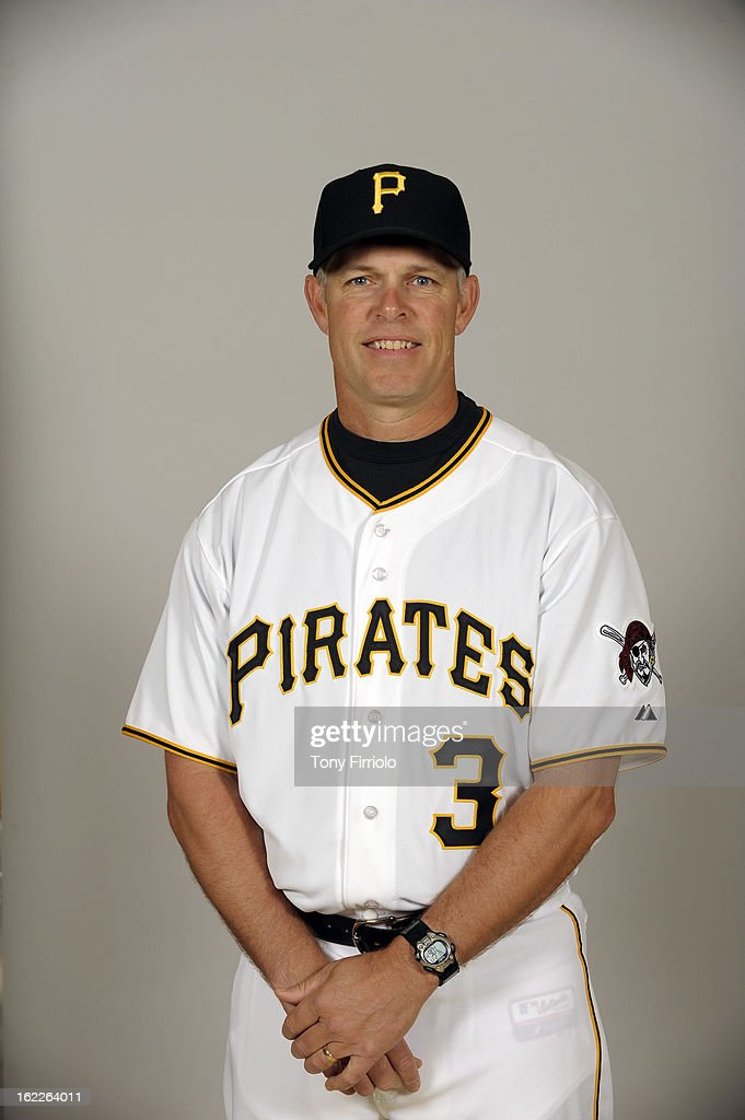 <a gi-track='captionPersonalityLinkClicked' href=/galleries/search?phrase=Jay+Bell&family=editorial&specificpeople=242783 ng-click='$event.stopPropagation()'>Jay Bell</a> #3 of the Pittsburgh Pirates poses during Photo Day on February 17, 2013 at McKechnie Field in Bradenton, Florida.